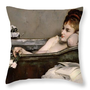 Le Bain Throw Pillow