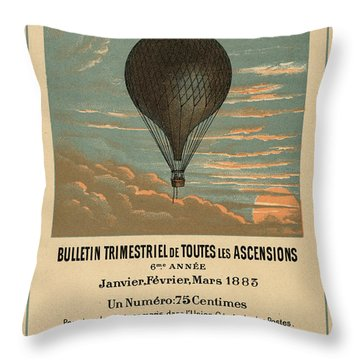 Le Balloon Journal Throw Pillow