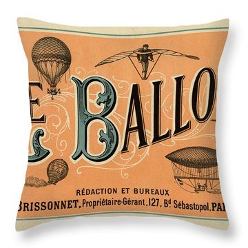 Le Balloon Throw Pillow