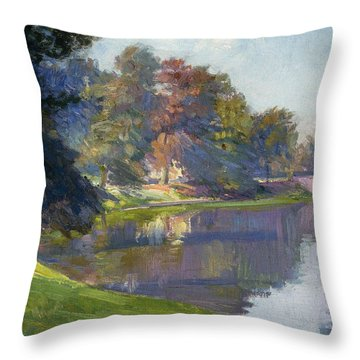 Le Bois De Bruxelles Throw Pillow