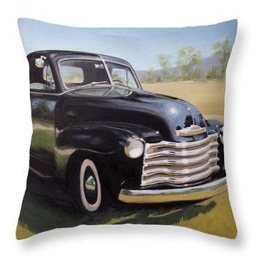Le Camion Noir Throw Pillow