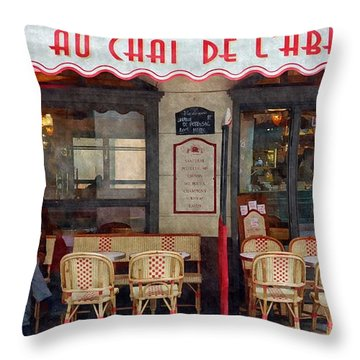 Le Chai Paris  Throw Pillow by Matthew Bamberg
