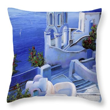 Le Chiese Blu Throw Pillow