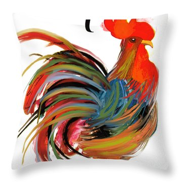 Le Coq Art Nouveau Rooster Throw Pillow