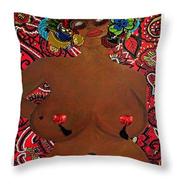 Le Grande Madame Throw Pillow