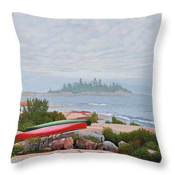 Le Hayes Island Throw Pillow