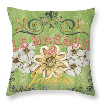 French Signs Throw Pillows