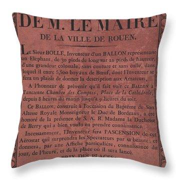 Le Maire Balloon Race Throw Pillow