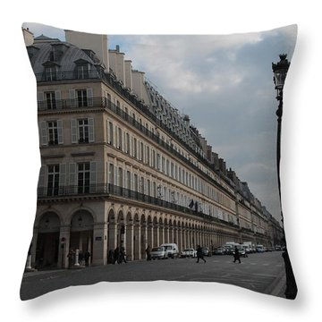 Throw Pillow featuring the photograph Le Meurice Hotel, Paris by Christopher Kirby