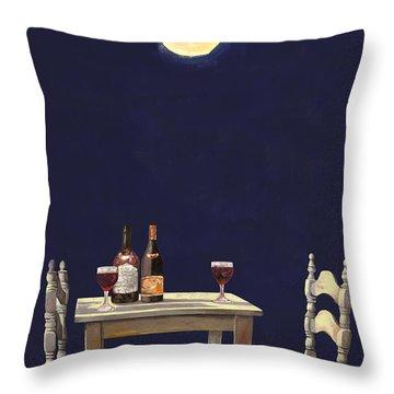 Le Ombre Della Luna Throw Pillow
