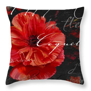 Le Pavot Throw Pillow