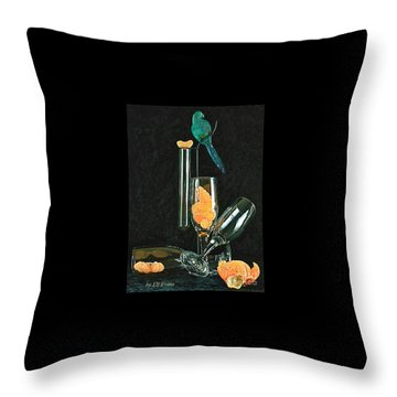 Le Perroquet Vert Throw Pillow