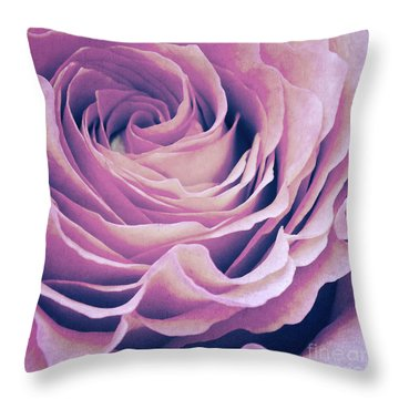 Le Petale De Rose Pourpre Throw Pillow by Angela Doelling AD DESIGN Photo and PhotoArt