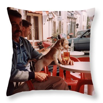 Le Petit Chien - Little Dog Throw Pillow by Harvie Brown
