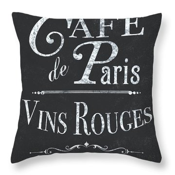 Le Petite Bistro 2 Throw Pillow