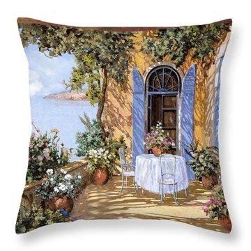 Le Porte Blu Throw Pillow