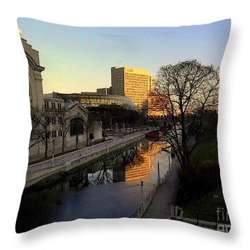 Throw Pillow featuring the photograph Le Rideau, by Elfriede Fulda