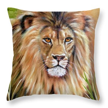 Le Roi-the King, Tribute To Cecil The Lion   Throw Pillow