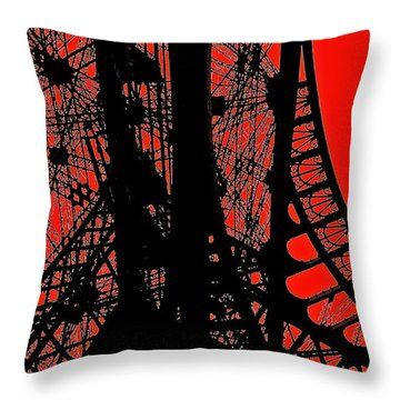 Throw Pillow featuring the photograph Le Rouge Et Le Noir by Danica Radman