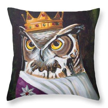 Le Royal Owl Throw Pillow