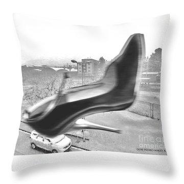Flying Stiletto Throw Pillow