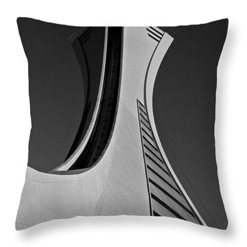 Le Stade Olympique De Montreal Throw Pillow