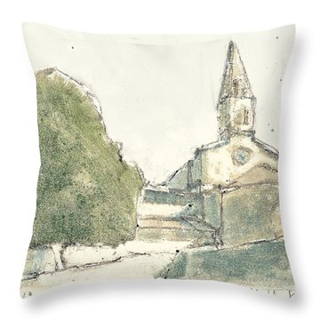 Throw Pillow featuring the painting le Thoronet by Martin Stankewitz