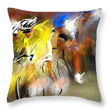 Le Tour De France 05 Throw Pillow by Miki De Goodaboom