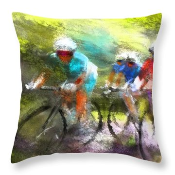 Le Tour De France 11 Throw Pillow
