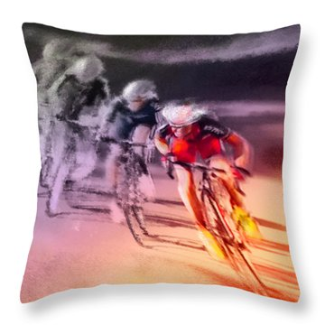 Le Tour De France 13 Throw Pillow