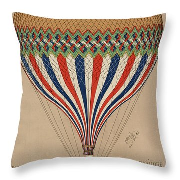 Le Tricolore Throw Pillow