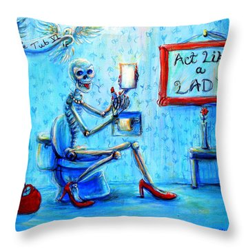 Le Tub Vi Throw Pillow
