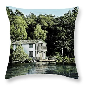Leacock Boathouse Throw Pillow