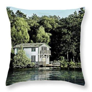 Leacock Boathouse Throw Pillow