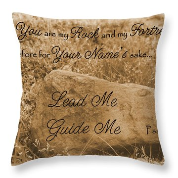 Lead Me Guide Me Psalm 31 Throw Pillow by Robyn Stacey