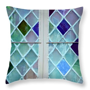 Leaded Glass Throw Pillow