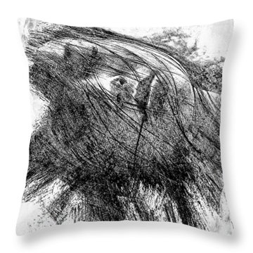 Leaden Slumber Throw Pillow