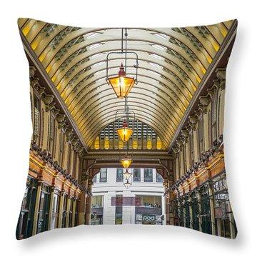 Leadenhall Market Throw Pillow