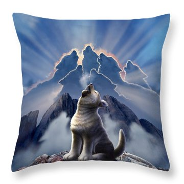 Leader Of The Pack Throw Pillow by Jerry LoFaro