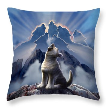 Wolf Pack Throw Pillows