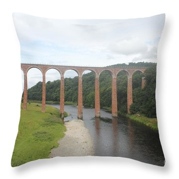 Leaderfoot Viaduct Throw Pillow