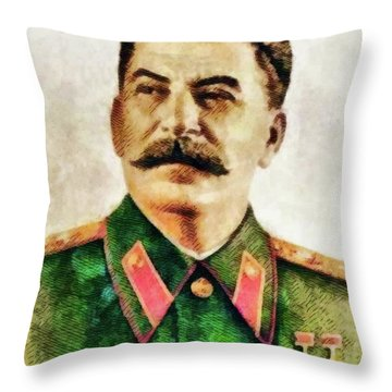 Leaders Of Wwii - Joseph Stalin Throw Pillow
