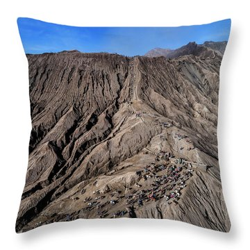 Throw Pillow featuring the photograph Leading To The Volcano Crater by Pradeep Raja Prints
