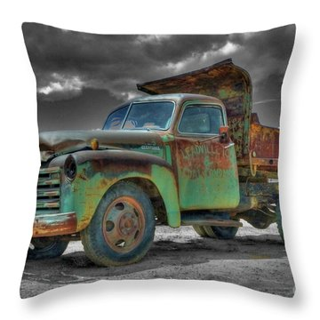Leadville Coal Company Throw Pillow