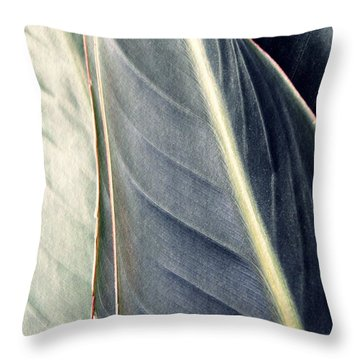 Leaf Abstract 14 Throw Pillow by Sarah Loft
