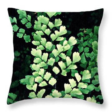 Leaf Abstract 15 Throw Pillow by Sarah Loft