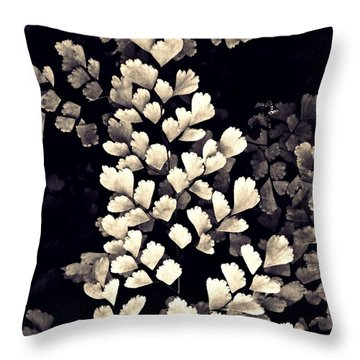 Leaf Abstract 15 Sepia Throw Pillow by Sarah Loft