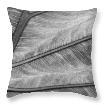 Leaf Abstraction Throw Pillow