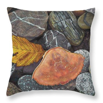 Leaf And Crab Shell Throw Pillow