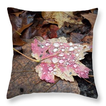 Leaf Bling Throw Pillow